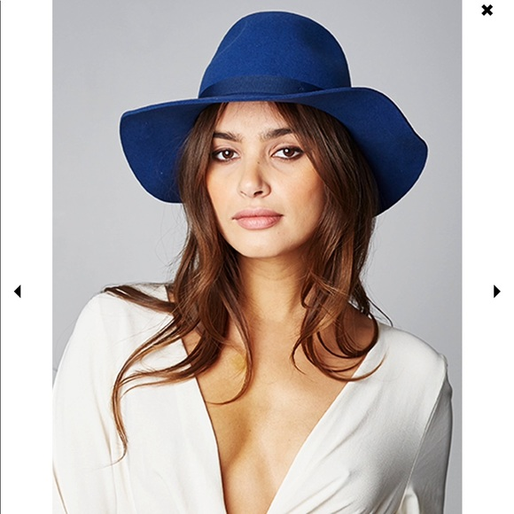 Brixton Dalila Floppy Wool Sun Hat Royal Blue 39e9ec48a72
